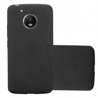 Cadorabo Hülle für Motorola MOTO G5 in FROSTY SCHWARZ - Hardcase Handyhülle aus Plastik gegen Kratzer und Stöße - Schutzhülle Bumper Ultra Slim Back Case Hard Cover