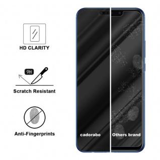 Cadorabo Vollbild Panzer Folie für Huawei P SMART PLUS - Schutzfolie in TRANSPARENT mit SCHWARZ - Gehärtetes (Tempered) Display-Schutzglas in 9H Härte mit 3D Touch Kompatibilität - Vorschau 3