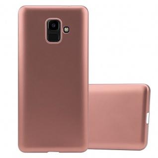 Cadorabo Hülle für Samsung Galaxy J6 2016 in METALLIC ROSÉ GOLD - Handyhülle aus flexiblem TPU Silikon - Silikonhülle Schutzhülle Ultra Slim Soft Back Cover Case Bumper