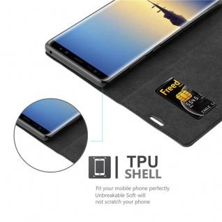 Cadorabo Hülle für Samsung Galaxy NOTE 8 in NACHT SCHWARZ - Handyhülle mit Magnetverschluss, Standfunktion und Kartenfach - Case Cover Schutzhülle Etui Tasche Book Klapp Style - Vorschau 2