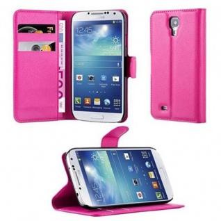 Cadorabo Hülle für Samsung Galaxy S4 in CHERRY PINK - Handyhülle mit Magnetverschluss, Standfunktion und Kartenfach - Case Cover Schutzhülle Etui Tasche Book Klapp Style