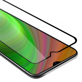Cadorabo Vollbild Panzer Folie für Samsung Galaxy M30s - Schutzfolie in TRANSPARENT mit SCHWARZ - Gehärtetes (Tempered) Display-Schutzglas in 9H Härte mit 3D Touch