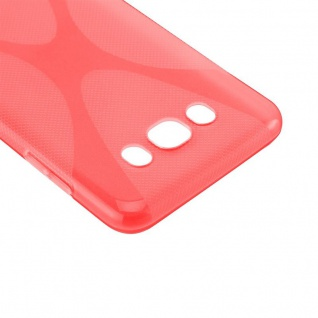 Cadorabo Hülle für Samsung Galaxy J7 2016 in INFERNO ROT - Handyhülle aus flexiblem TPU Silikon - Silikonhülle Schutzhülle Ultra Slim Soft Back Cover Case Bumper - Vorschau 5