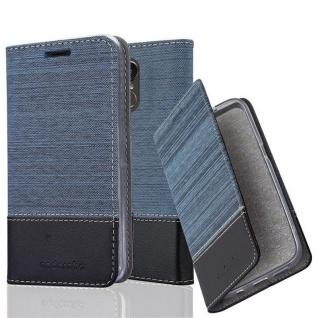 Cadorabo Hülle für LG STYLUS 3 in DUNKEL BLAU SCHWARZ - Handyhülle mit Magnetverschluss, Standfunktion und Kartenfach - Case Cover Schutzhülle Etui Tasche Book Klapp Style