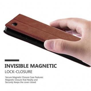 Cadorabo Hülle für Huawei P8 LITE 2015 in CAPPUCCINO BRAUN - Handyhülle mit Magnetverschluss, Standfunktion und Kartenfach - Case Cover Schutzhülle Etui Tasche Book Klapp Style - Vorschau 5