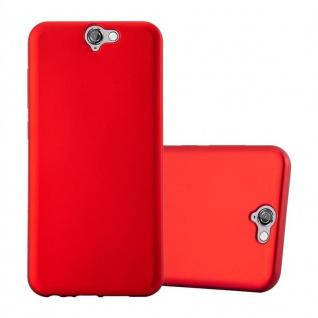 Cadorabo Hülle für HTC ONE A9 in METALLIC ROT - Handyhülle aus flexiblem TPU Silikon - Silikonhülle Schutzhülle Ultra Slim Soft Back Cover Case Bumper