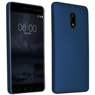 Cadorabo Hülle für Nokia 6 2017 in METALL BLAU ? Hardcase Handyhülle aus Plastik gegen Kratzer und Stöße ? Schutzhülle Bumper Ultra Slim Back Case Hard Cover