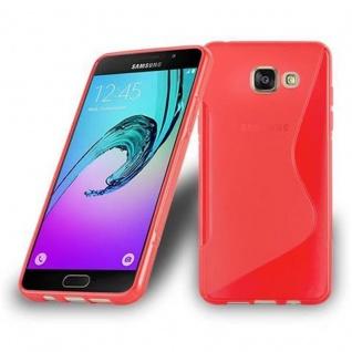 Cadorabo Hülle für Samsung Galaxy A5 2016 in INFERNO ROT ? Handyhülle aus flexiblem TPU Silikon ? Silikonhülle Schutzhülle Ultra Slim Soft Back Cover Case Bumper