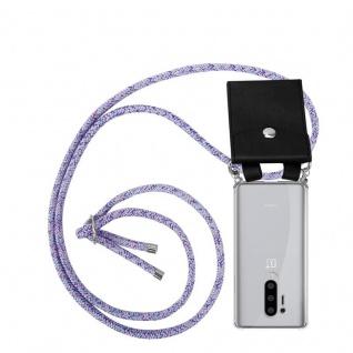 Cadorabo Handy Kette für Oneplus 8 pro in UNICORN Silikon Necklace Umhänge Hülle mit Silber Ringen, Kordel Band Schnur und abnehmbarem Etui Schutzhülle