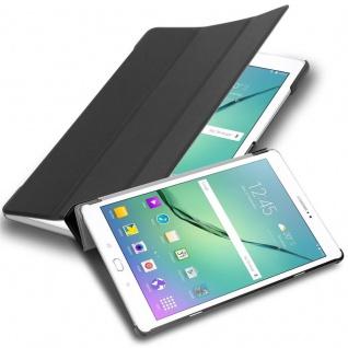 """Cadorabo Tablet Hülle für Samsung Galaxy Tab S2 (9, 7"""" Zoll) SM-T815N / T813N / T819N in SATIN SCHWARZ Ultra Dünne Book Style Schutzhülle mit Auto Wake Up und Standfunktion aus Kunstleder"""