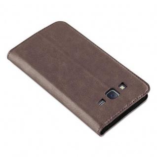 Cadorabo Hülle für Samsung Galaxy J5 2015 in KAFFEE BRAUN - Handyhülle mit Magnetverschluss, Standfunktion und Kartenfach - Case Cover Schutzhülle Etui Tasche Book Klapp Style - Vorschau 4