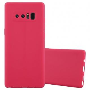 Cadorabo Hülle für Samsung Galaxy NOTE 8 in CANDY ROT Handyhülle aus flexiblem TPU Silikon Silikonhülle Schutzhülle Ultra Slim Soft Back Cover Case Bumper