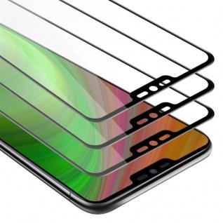 Cadorabo 3x Vollbild Panzer Folie für LG G7 - Schutzfolie in TRANSPARENT mit SCHWARZ - 3er Pack Gehärtetes (Tempered) Display-Schutzglas in 9H Härte mit 3D Touch