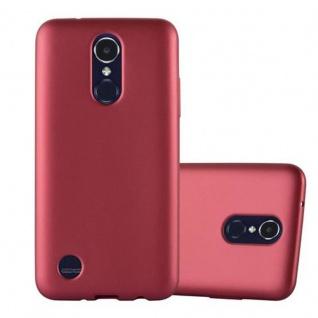 Cadorabo Hülle für LG K8 2017 in METALLIC ROT - Handyhülle aus flexiblem TPU Silikon - Silikonhülle Schutzhülle Ultra Slim Soft Back Cover Case Bumper