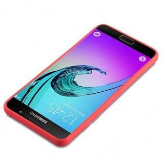 Cadorabo Hülle für Samsung Galaxy A5 2016 in CANDY ROT - Handyhülle aus flexiblem TPU Silikon - Silikonhülle Schutzhülle Ultra Slim Soft Back Cover Case Bumper - Vorschau 3