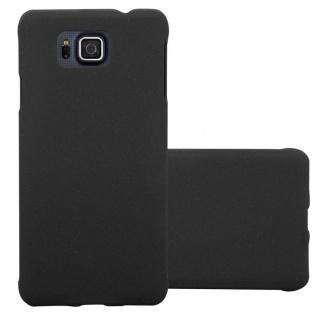 Cadorabo Hülle für Samsung Galaxy ALPHA in FROSTY SCHWARZ - Hardcase Handyhülle aus Plastik gegen Kratzer und Stöße - Schutzhülle Bumper Ultra Slim Back Case Hard Cover - Vorschau 1