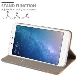 Cadorabo Hülle für Xiaomi Mi MAX 2 in HELL GRAU BRAUN - Handyhülle mit Magnetverschluss, Standfunktion und Kartenfach - Case Cover Schutzhülle Etui Tasche Book Klapp Style - Vorschau 4