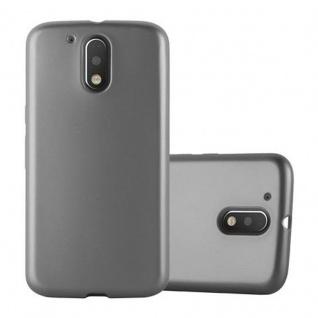 Cadorabo Hülle für Motorola MOTO G4 / MOTO G4 PLUS - Hülle in METALLIC GRAU ? Handyhülle aus TPU Silikon im Matt Metallic Design - Ultra Slim Soft Backcover Case Bumper