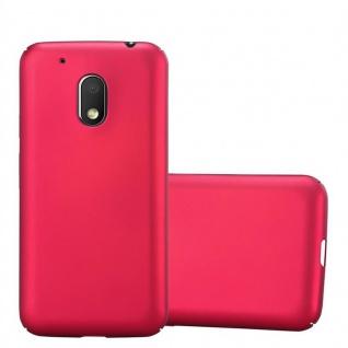 Cadorabo Hülle für Motorola MOTO G4 PLAY in METALL ROT ? Hardcase Handyhülle aus Plastik gegen Kratzer und Stöße ? Schutzhülle Bumper Ultra Slim Back Case Hard Cover