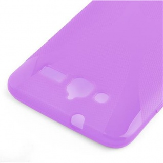 Cadorabo Hülle für Huawei ASCEND GX 1 in FLIEDER VIOLETT ? Handyhülle aus flexiblem TPU Silikon ? Silikonhülle Schutzhülle Ultra Slim Soft Back Cover Case Bumper - Vorschau 3