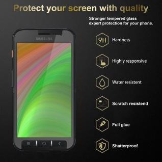 Cadorabo 3x Panzer Folie für Samsung Galaxy XCover 4s - Schutzfolie in KRISTALL KLAR - 3er Pack Gehärtetes (Tempered) Display-Schutzglas in 9H Härte mit 3D Touch Kompatibilität - Vorschau 2