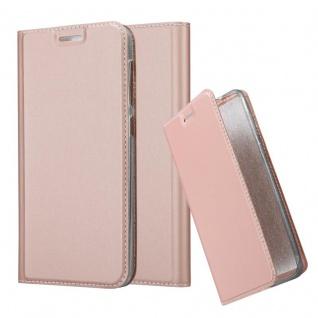 Cadorabo Hülle für HTC Desire 10 Lifestyle / Desire 825 in CLASSY ROSÉ GOLD - Handyhülle mit Magnetverschluss, Standfunktion und Kartenfach - Case Cover Schutzhülle Etui Tasche Book Klapp Style