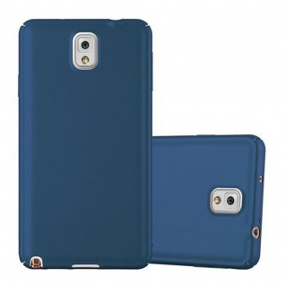 Cadorabo Hülle für Samsung Galaxy NOTE 3 - Hülle in METALL BLAU ? Hardcase Handyhülle im Matt Metal Design - Schutzhülle Bumper Back Case Cover