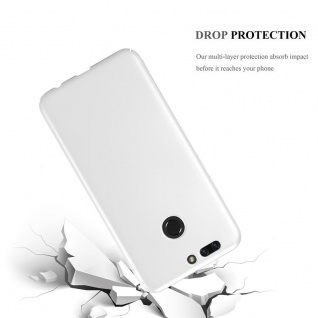 Cadorabo Hülle für Honor 8 PRO in METALL SILBER - Hardcase Handyhülle aus Plastik gegen Kratzer und Stöße - Schutzhülle Bumper Ultra Slim Back Case Hard Cover - Vorschau 3