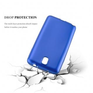 Cadorabo Hülle für Samsung Galaxy NOTE 3 in METALLIC BLAU - Handyhülle aus flexiblem TPU Silikon - Silikonhülle Schutzhülle Ultra Slim Soft Back Cover Case Bumper - Vorschau 3