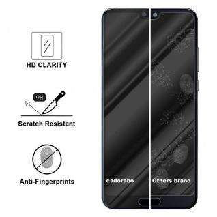 Cadorabo Vollbild Panzer Folie für Huawei P20 LITE - Schutzfolie in TRANSPARENT mit SCHWARZ - Gehärtetes (Tempered) Display-Schutzglas in 9H Härte mit 3D Touch Kompatibilität - Vorschau 2