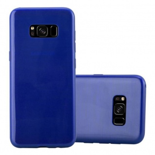 Cadorabo Hülle für Samsung Galaxy S8 in BLAU - Handyhülle aus flexiblem TPU Silikon - Silikonhülle Schutzhülle Ultra Slim Soft Back Cover Case Bumper