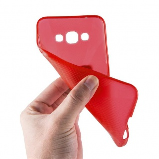 Cadorabo Hülle für Samsung Galaxy A8 2015 in INFERNO ROT - Handyhülle aus flexiblem TPU Silikon - Silikonhülle Schutzhülle Ultra Slim Soft Back Cover Case Bumper - Vorschau 5