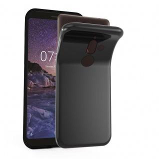 Cadorabo Hülle für Nokia 7 PLUS in SCHWARZ - Handyhülle aus flexiblem TPU Silikon - Silikonhülle Schutzhülle Ultra Slim Soft Back Cover Case Bumper