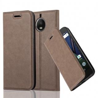 Cadorabo Hülle für Motorola MOTO G5S PLUS in KAFFEE BRAUN - Handyhülle mit Magnetverschluss, Standfunktion und Kartenfach - Case Cover Schutzhülle Etui Tasche Book Klapp Style
