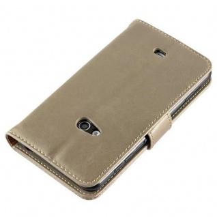 Cadorabo Hülle für Nokia Lumia 625 in CAPPUCCINO BRAUN ? Handyhülle mit Magnetverschluss, Standfunktion und Kartenfach ? Case Cover Schutzhülle Etui Tasche Book Klapp Style - Vorschau 5