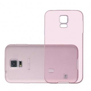 Cadorabo Hülle für Samsung Galaxy S5 / S5 NEO - Hülle in TRANSPARENT ROSA ? Handyhülle aus TPU Silikon im Strass Design - Silikonhülle Schutzhülle Ultra Slim Soft Back Cover Case Bumper - Vorschau 2
