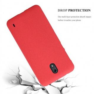 Cadorabo Hülle für Nokia 2 2017 in FROST ROT - Handyhülle aus flexiblem TPU Silikon - Silikonhülle Schutzhülle Ultra Slim Soft Back Cover Case Bumper - Vorschau 3