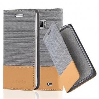 Cadorabo Hülle für Samsung Galaxy S2 / S2 PLUS in HELL GRAU BRAUN - Handyhülle mit Magnetverschluss, Standfunktion und Kartenfach - Case Cover Schutzhülle Etui Tasche Book Klapp Style