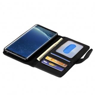 Cadorabo Hülle für Samsung Galaxy S8 PLUS in OXID SCHWARZ ? Handyhülle mit Magnetverschluss und 3 Kartenfächern ? Case Cover Schutzhülle Etui Tasche Book Klapp Style - Vorschau 2