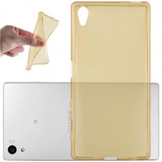 Cadorabo Hülle für Sony Xperia Z5 in TRANSPARENT GOLD - Handyhülle aus flexiblem TPU Silikon - Silikonhülle Schutzhülle Ultra Slim Soft Back Cover Case Bumper