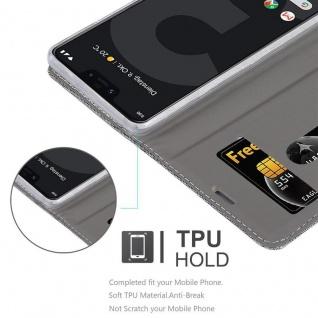 Cadorabo Hülle für Google Pixel 3 XL in HELL GRAU BRAUN - Handyhülle mit Magnetverschluss, Standfunktion und Kartenfach - Case Cover Schutzhülle Etui Tasche Book Klapp Style