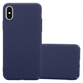 Cadorabo Hülle für Apple iPhone X / XS in FROSTY BLAU - Hardcase Handyhülle aus Plastik gegen Kratzer und Stöße - Schutzhülle Bumper Ultra Slim Back Case Hard Cover