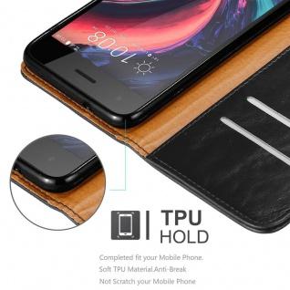 Cadorabo Hülle für HTC Desire 10 PRO in GRAPHIT SCHWARZ - Handyhülle mit Magnetverschluss, Standfunktion und Kartenfach - Case Cover Schutzhülle Etui Tasche Book Klapp Style - Vorschau 3
