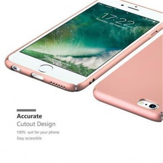 Cadorabo Hülle für Apple iPhone 6 PLUS / iPhone 6S PLUS in METALL ROSE GOLD - Hardcase Handyhülle aus Plastik gegen Kratzer und Stöße - Schutzhülle Bumper Ultra Slim Back Case Hard Cover - Vorschau 3
