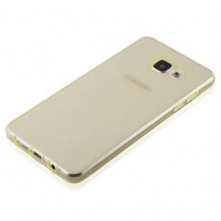 Cadorabo Hülle für Samsung Galaxy A3 2016 in TRANSPARENT GOLD - Handyhülle aus flexiblem TPU Silikon - Silikonhülle Schutzhülle Ultra Slim Soft Back Cover Case Bumper - Vorschau 4