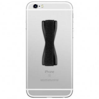 Cadorabo - Finger-Halterung Sling Grip für Smartphone / Tablet / iPod / eReader Griff Henkel Sling Schlaufe Riemen in SCHWARZ - Vorschau 2