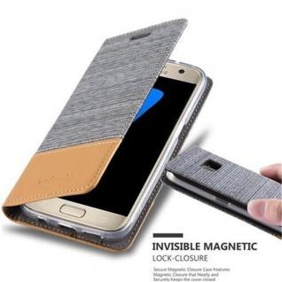 Cadorabo Hülle für Samsung Galaxy S7 in HELL GRAU BRAUN - Handyhülle mit Magnetverschluss, Standfunktion und Kartenfach - Case Cover Schutzhülle Etui Tasche Book Klapp Style