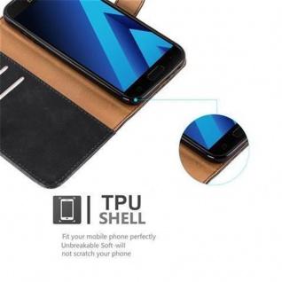 Cadorabo Hülle für Samsung Galaxy A3 2017 in GRAPHIT SCHWARZ ? Handyhülle mit Magnetverschluss, Standfunktion und Kartenfach ? Case Cover Schutzhülle Etui Tasche Book Klapp Style - Vorschau 4