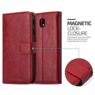 Cadorabo Hülle für Samsung Galaxy J7 2017 in WEIN ROT - Handyhülle mit Magnetverschluss, Standfunktion und Kartenfach - Case Cover Schutzhülle Etui Tasche Book Klapp Style - Vorschau 2