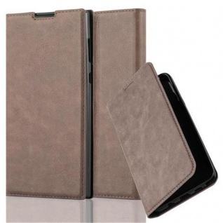 Cadorabo Hülle für Sony Xperia L1 in KAFFEE BRAUN - Handyhülle mit Magnetverschluss, Standfunktion und Kartenfach - Case Cover Schutzhülle Etui Tasche Book Klapp Style